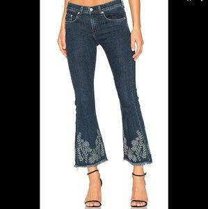 "rag and bone | Blue 10"" Crop Flare Jeans Sz 23"